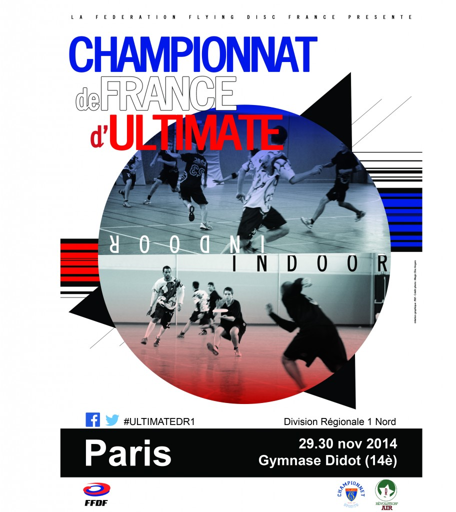 Affiche FFDF - INDOOR DR1 Phase 1 - 29.30 nov 2014